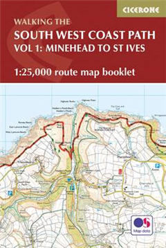 South West Coast Path Map Booklet - Vol 1: Minehead to St Iv