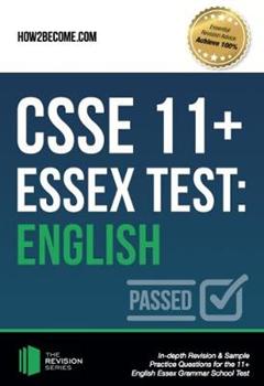 CSSE 11+ Essex Test: English