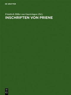 Vonfriedrich Hille Et Al Inschriften Von Priene