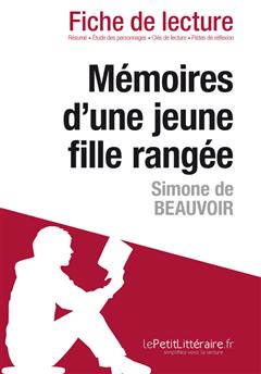 Mémoires d'une jeune fille rangée de Simone de Beauvoir (Fiche de lecture)