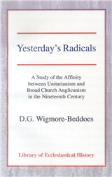 Yesterday's Radicals: a Study of the Affinity between Unitarianism and Broad Church Anglicanism in the Nineteenth Century Hardback