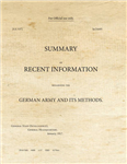 SS537_Summary of Recent Information Regarding the German Army and its Methods