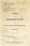 SS306_Notes on German Fuzes and Typical French and Belgian Fuzes