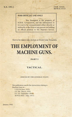 SS192_The Employment of Machine Guns Part 1 - Tactical