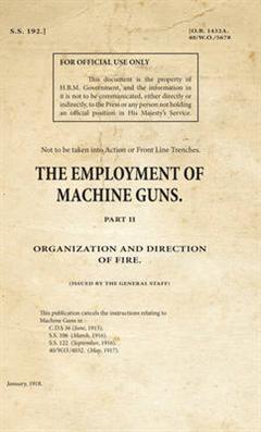 SS192_The Employment of Machine Guns Part 2 - Organization & Direction of Fire